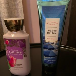 Two bath and body lotions